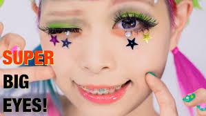 super big eyes makeup tutorial lashes hairstyle by kurebayashi anese kawaii model 紅林大空超デカ目メイク you