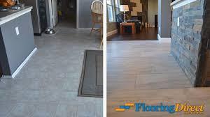 vinyl plank flooring vs tile new old vinyl flooring vs new wood look tile flooring