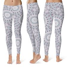 Patterned Yoga Pants Beauteous Printed Leggings Yoga Pants Patterned Yoga Tights Stretchy Etsy