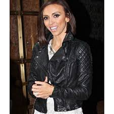 giuliana rancic black quilted leather jacket