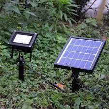 20 rgb led remote control solar flood