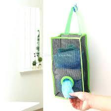 garbage bag holder diy hanging trash storage bags mesh grocery bag dispenser kitchen bathroom garbage bag holder diy