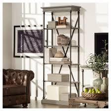 Belvidere 5-Shelf Narrow Etagere Bookshelf Grey - Inspire Q