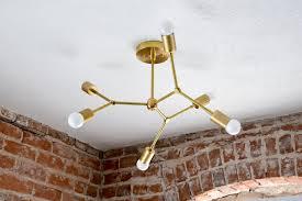 mid century outdoor lighting photo 6. Tree Branch Lighting. Modern Geometric Brass Chandelier Gold Pinwheel Bulb Sputnik Mid Century Outdoor Lighting Photo 6