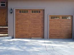 image of faux wood garage doors picture