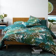 brazilia patterned duvet cover green print la redoute interieurs la redoute