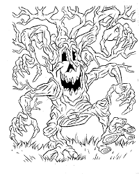 Small Picture Scary Halloween Monster Coloring Pages Coloring Coloring Pages