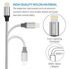 iPad Mini/Air,iPod-Silver/B IWAVION iPhone Charger Cable 3pack 3ft/1m Lightning  Cable Nylon Braided iPhone Cable USB Sync Cord Fast iPhone Charging Cable  for iPhone XS Max X XR 8 7 6s 6 Plus