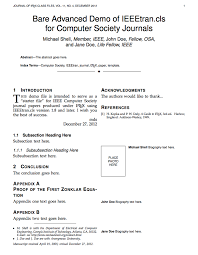 Sample Resume In Ieee Format Best Of LaTeX Templates Institute Of Electrical And Electronics Engineers