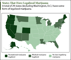 states in usa with legal recreational weed