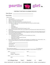 Free Wedding Planner Contract Templates Event Contracts Banquet Contract Template Event Planning