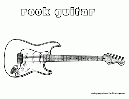 Small Picture Guitar Printable Coloring Pages Guitar Colouring Pages Isrs2011