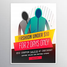 Sales Pamphlets Clothing Sale Brochure Vector Free Download