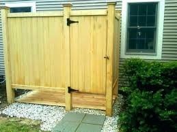 build an outdoor shower build outdoor shower stall enclosures how to