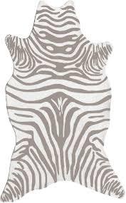 resort 25258 zebra grey shaped rug