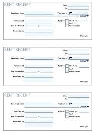 Rent Payment Receipt Rental Receipt Word Template Rental Payment Receipt Word