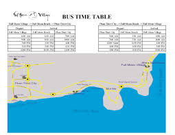 full moon bus times to suoi nuoc beach and back