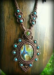 Collar macrame con piedras <b>aquamarine</b> y florita..#Magaly12323 ...