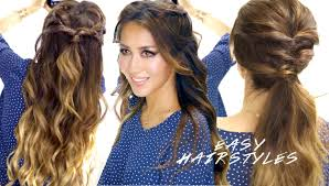 Half Ponytail Hairstyles Super Easy Spring Hairstyles In 5 Minutes Cute Faux Braids