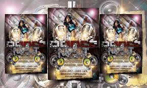 free dance flyer templates dj dance party free flyer templates psd download
