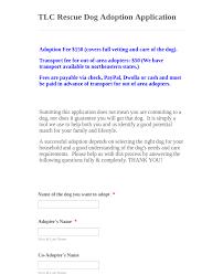 Pet Information Template Dog Adoption Application Form Template Jotform