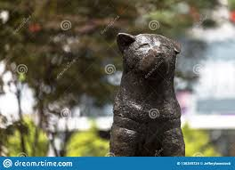 Statue Of Hachiko, A Japanese Akita Dog Remembered For His ...