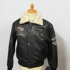 mens 1976 pilot jacket with detachable fur collar milled hide sizes small to 4xl