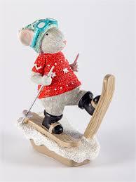 """<b>Фигурка декоративная</b> """"Мышка на лыжах"""" <b>Русские</b> подарки ..."""