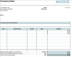 House Cleaning Sample Invoice House Cleaning Service Resume