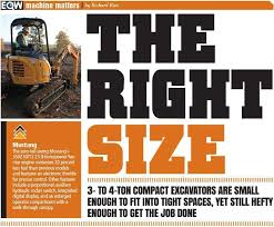 Excavator Comparison Chart Why 3 To 4 Ton Compact Excavators Are Just The Right Size