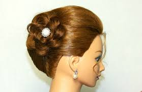 Flower Hair Style hairstyle for medium long hair updo with braided flower youtube 1367 by wearticles.com