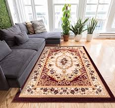 well woven fl all over french aubusson style value red area rug 5x7 5 x 7 2 european perfect living room dining room soft easy care carpet