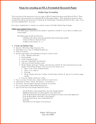 Outline Sample Sample Outline For Research Paper Program Format 18