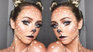 cute and easy deer makeup look