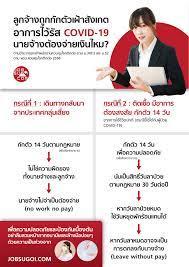 ลูกจ้างต้องกักตัวเฝ้าสังเกตอาการไวรัส COVID-19 นายจ้างต้องจ่ายเงินไหม? -  JobSugoi.com