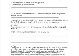 Roommates For House Agreement Document Download Flatmate Contract ...
