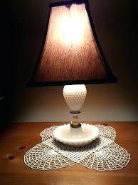 white milk glass lamp shade white milk glass lamp image 0 white milk glass hobnail lamp