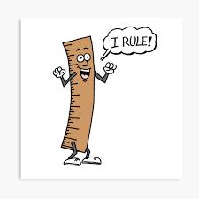 I Rule Funny Cartoon Ruler Canvas Print