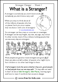 Stranger Danger Worksheets And Colouring Pages
