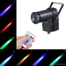 Led Stage Light Beam Pinspot Spotlight Dj Disco Rgb Spot Lights Effects Lamp For Christmas Home Party Ktv Bar