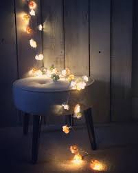 Led Bedroom Lights Decoration Grey Rose Flower Fairy String Warm White Led Lights Vintage