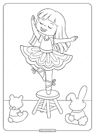 Angelina ballerina printable coloring pages. Printable Ballerina Coloring Pages For Girl