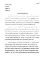 the crucible irony essay michael siragusa mrs todd english r  2 pages the crucible theme essay