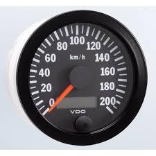 vdo 80mm electronic speedometer 200km h