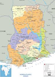 map of ghana  travelsmapscom ®