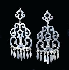 extra large chandelier earrings extra large vintage silver chandelier earrings unsigned silver modernist etc silver chandelier