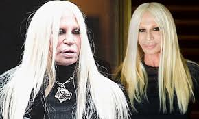 donatella versace goes make up free in the streets of milan