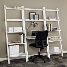 leaning bookcases leaning desks amp leaning shelves the container ladder bookcase with desk