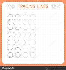 Writing Lines For Kindergarten Writing Pages For Kids Tracing Lines Worksheet For Kids