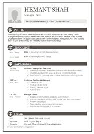 One Page Excellent Resume Sample for MBA - Sales & Marketing
